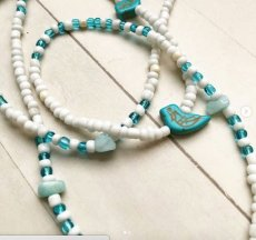 Turquoise and Blue Lace Agate African Waist Beads