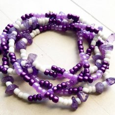 Amethyst African Waist Beads