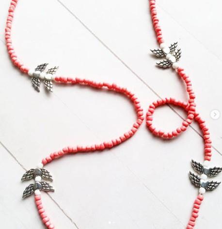 Pink Angel African Waist Beads