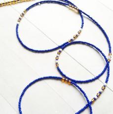 Blue & Gold African Waist Beads